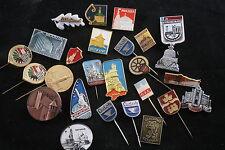 Soviet Union Lot Set of 25 City Town Badges Pin Place Monuments Travel Tourist A