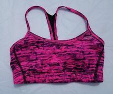 Champion Womens Power Core Compression Racerback Sports Bra Pink Black Size XS