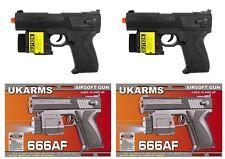"2x 6.5"" Spring Black Airsoft Pistols Guns Laser Sights Air Soft 666af +1000 BBs"