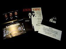la maffia au cinema : SCARFACE + LE PARRAIN + LES AFFRANCHIS : 3 affiches cinema
