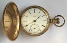 Rare 1882 Rockford Watch Co. Illinois Working Pocket Watch, Size 18 Hunter Case
