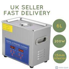 6L Ultrasonic Cleaner Stainless Steel Digital Bath Heater Ultra Sonic UK