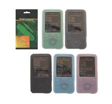 Screen Protector + 5 Color Soft Skin Cover Case for Sony Walkman NWZ-E436F E438F
