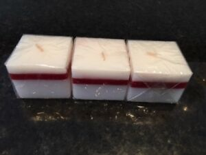 Candles Salt & Pepper White/Red set of 3 4cm x 5cm