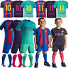 2017 MESSI 10 Football Soccer Short Sleeve Team Suit Kids Boy Youth 3-14y+socks