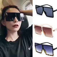 Fashion Men Women Retro Big Square Frame Oversized Sunglasses Eyewear Glasses