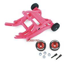 Traxxas Pink Wheelie Bar/Red Alum Wheels & Rubber Tires: Stampede VXL /Bandit