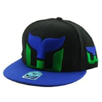 Hartford Whalers NHL 47 Brand Two Tone Blackout Colossal MVP Snapback  Vintage 0f4900b36c42