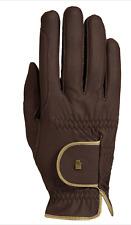 Roeckl Lona Gloves-7 1/2-Mocha/Gold