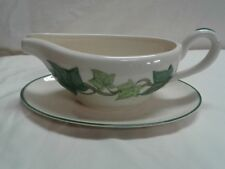 """Franciscan Ivy Gravy Sauce boat w/attached stand 9"""" made in U.S.A."""