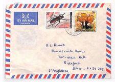 XX90 RWANDA Cover 1980 Air Mail Devon BEETLES MUSHROOMS {samwells-covers}
