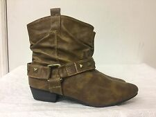 Chelsea Crew brown man made Women ankle boots -low heel- size  EU 37
