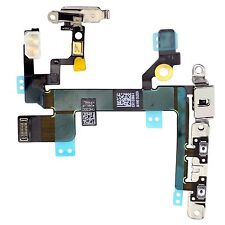 For iPhone 5S Power Flex Cable - Mute Switch - Volume Buttons With Brackets