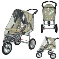 Universal Transparent Buggy Pushchair Stroller Pram Rain Cover Baby Protector UK