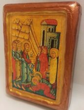 The Raising of Lazarus Lazaros Rare Byzantine Greek Orthodox Icon Art