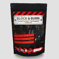 BLOCK&BURN - 250 Kapseln Kohlenhydrate und Zucker Blocker + Fatburner Phaseolin