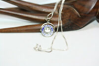 """Sterling Silver 925 Spinning Canada Maple Leaf Pendant Necklace 16"""" Link Chain"""