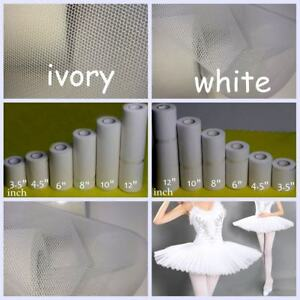 "Stiff Tulle Netting Fabric Petticoats Ballets Dress 3.5"" 4.5"" 6"" 8"" 10"" 12"" Wide"