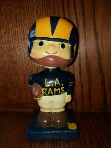Los Angeles Rams Square Base Bobbin Head/Nodder/Bobbing Head 1961 Mint & Origina