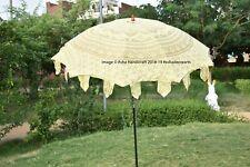 Large Indian Mandala Garden Umbrella Gold Ombre Patio Parasols Beach Sun Shade