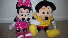 Lot Vintage Worlds of Wonder Mickey Mouse Fully Working clean, Tape Plush Minnie