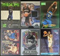 Lot of (6) Kevin Garnett, Including Prizm Jersey, Instant Energy RC, Mosaic more