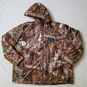 Realtree Edge Men's Full Zip Insulated Hooded Parka Jacket Size XL Measure 28x31
