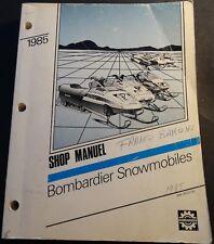 1985 BOMBARDIER SKI-DOO & MOTO-SKI SNOWMOBILE SHOP MANUAL P/N 484 0503 00 (748)