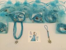 Frozen Pre Filled Party Bags, Gift/Filler, Snowflake Necklace, Charm, Tattoo