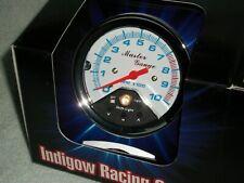 "10,000 RPM TACH WHITE SHIFT LITE LIGHT IMCA 3-5/8"" RACE TACHOMETER RATROD DRAG"
