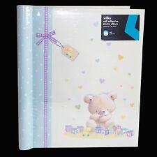 "Baby A4 album photo anniversaire ""teddy"" design – auto-adhésif"