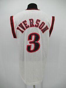 P8123 VTG NBA Philadelphia 76ers Iverson #3 Basketball Jersey Size L