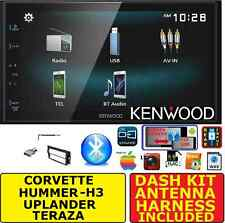 CORVETTE HUMMER H3 KENWOOD CREEN MIRROR BLUETOOTH USB/AUX CAR RADIO STEREO PKG