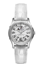 New Hamilton Jazmaster Lady Auto Silver Dial Leather Band Women Watch H32365313