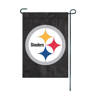 PITTSBURGH STEELERS Embroidered Garden Window FLAG Outdoor Decor