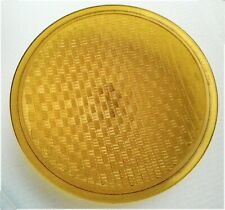 """Vintage 8 3/8 Inch  YELLOW KOPP Glass Traffic Lens """"Made in USA"""""""