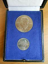 2x Medaille Pablo Neruda DDR 1973 inkl. Etui