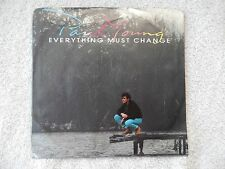 """Paul Young """"Everything Must Change/Give Me My Freedom"""" PS 45 RPM Record"""
