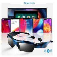 Bluetooth Sunglasses Wireless Glasses Headphones Headset Stereo Earphones+Mic K.