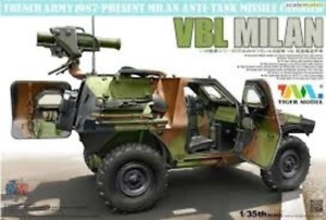 Tigermodel 1/35 French Vbl With Milan Anti-Tank Missile Launcher