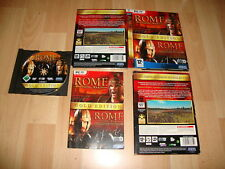 ROME TOTAL WAR GOLD EDITION + BARBARIAN INVASION DE SEGA PARA PC USADO COMPLETO