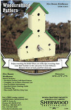 Five Room Birdhouse Woodworking Pattern by Sherwood Creations