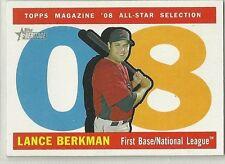 2009 Topps Heritage Baseball Lance Berkman All-Star High Number SP Card # 482