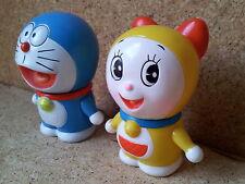 Japan Vintage Ninohe DORAEMON & DORAMI Squeeze Toys (Soft Vinyl)