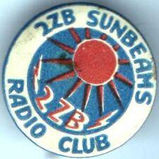 Early 1900s pin 2ZB Sunbeams RADIO Club pinback button SUN
