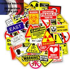 Lot autocollants stickers thème PANNEAUX / DANGER / AVERTISSEMENTS