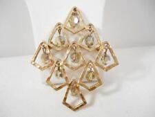 Vintage Signed Coro Diamond Aurora Borealis Crystal Brooch Rare 9f7