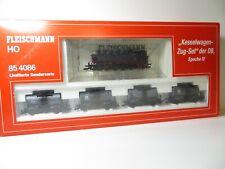 217HO - Fleischmann HO 85 4086 k - Kesselwagen Zugset mit BR 86 - DSS top in OVP