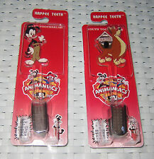 2x Animaniacs Collectible Toothbrushes - NEW - Warner Brothers