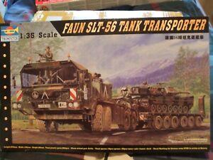 1/35 TRUMPETER FAUN SLT 56 TANK TRANSPOTER  MODEL  KIT